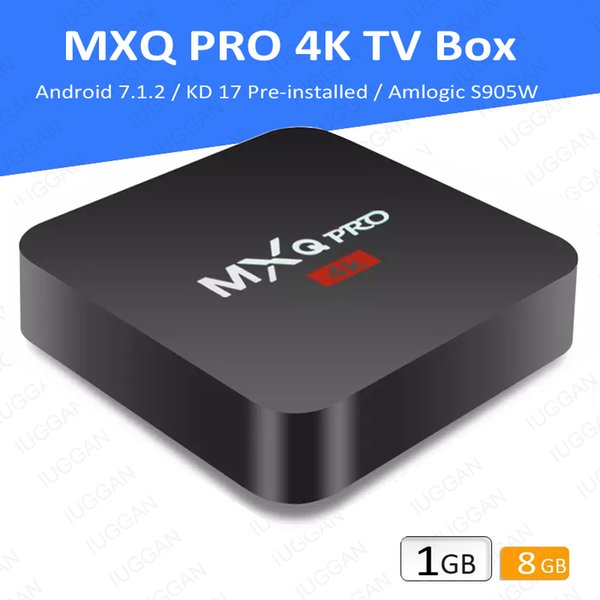 MXQ PRO 4K Ultra-HD Android 7.1 OS 17.6 4 USB Ports Quad-Core Smart TV Box VS T95N