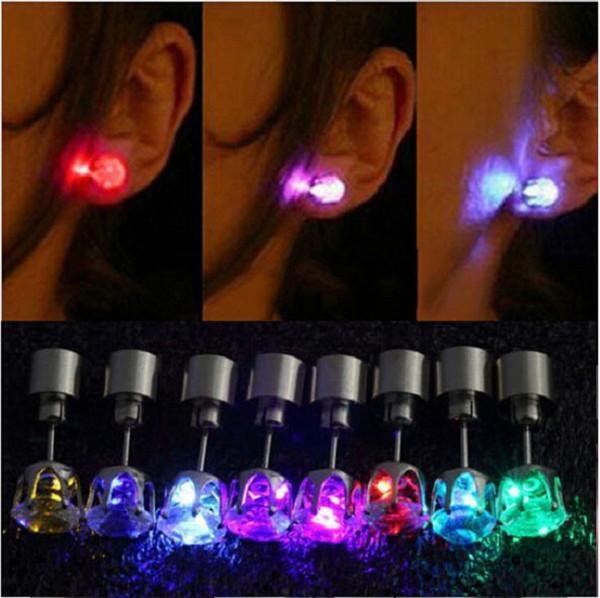 top popular Fashion unique design LED Earrings Light Light Up Bling Ear Studs Dance Party Accessories Women 2019