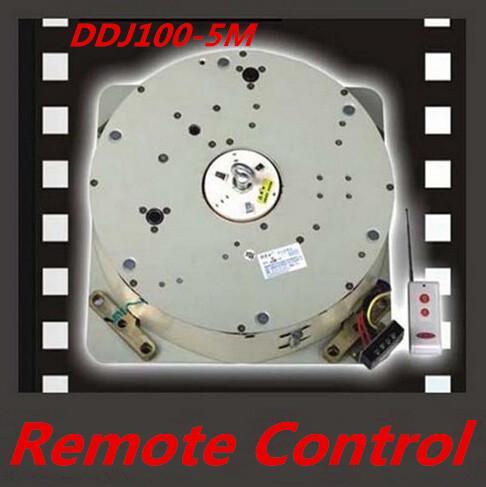 Elevador automático de control remoto Lámpara de cristal Elevador de iluminación del elevador Sistema de elevación de luz del cabrestante eléctrico Lámpara Motor DDJ100 Cable de 5 m