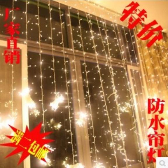Luzes de cortina 1024 luzes LED lâmpadas 8m * 4m, luz de ornamento de Natal à prova d'água, flash colorido luzes de casamento de fadas AC110V-220V