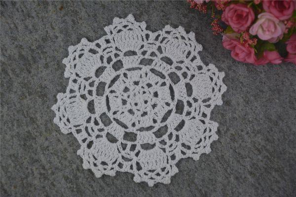 DIY Design Wedding Handmade Crochet Coasters Doily Placemats Crocheted Doilies Size 5 inches 30 PCS/ LOT Custom Color _DSC0048