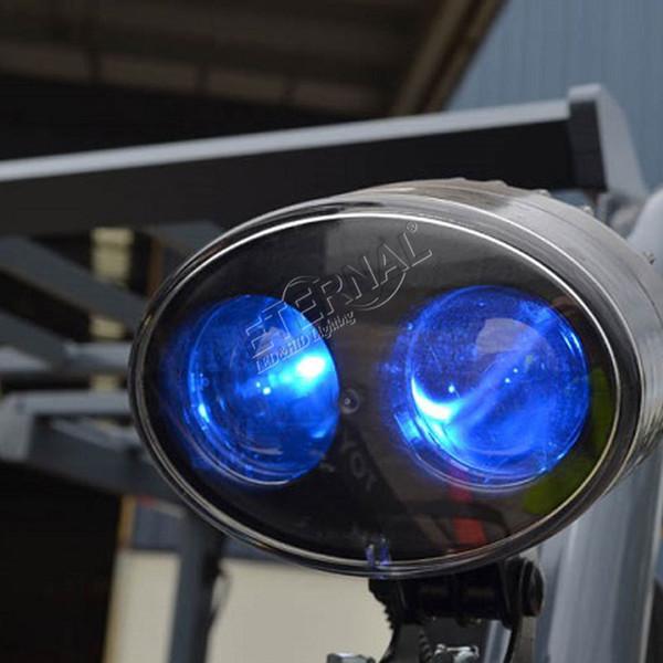 10 stücke 10 Watt gabelstapler sicherheit licht blau scheinwerfer signal lampe warnung notfall teile für lager flurförderzeuge