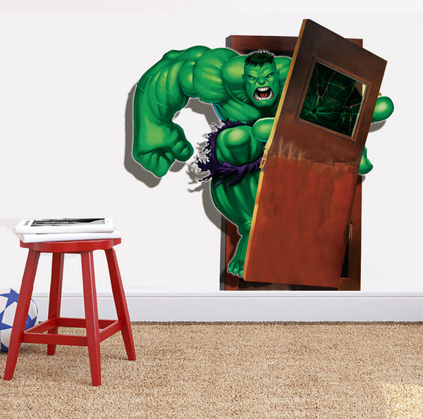 2015 fashion kid favorite Avengers Hulk super hero home 50*70cm Wall Sticker Home Decor Room children Kids