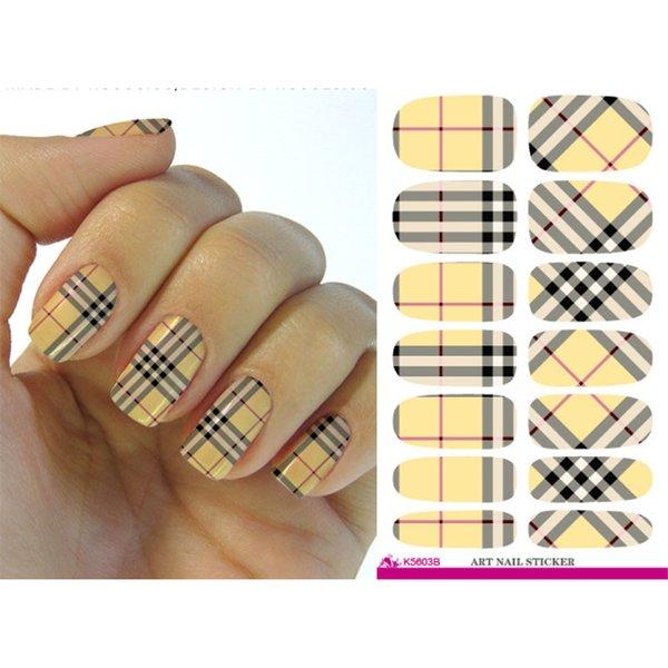 K5603b Water Transfer Nail Art Sticker Minx Manicure Decoration ...