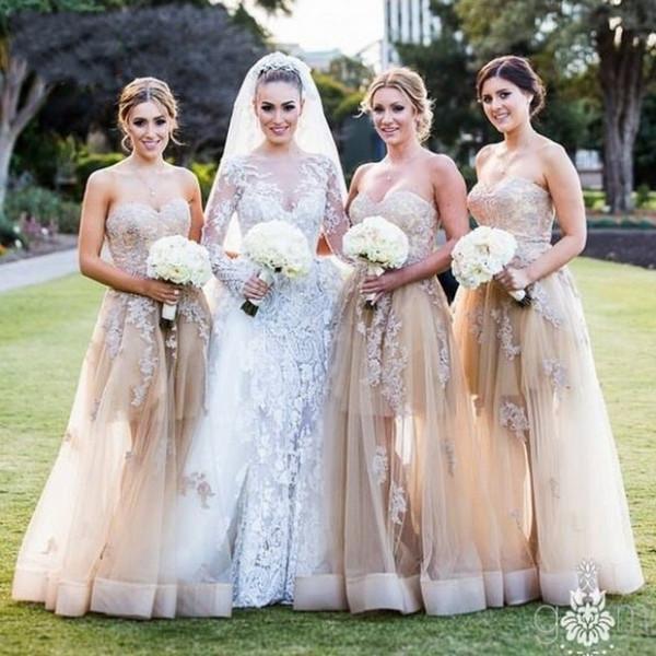 2016 Vestido De Renda Longo Bridesmaid