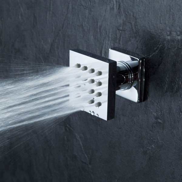 One pcs Brass Square Massage Shower Body Jet Spray Head For Bathroom Spa Bath & Shower