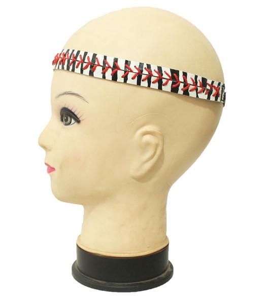 Stripe leather headband