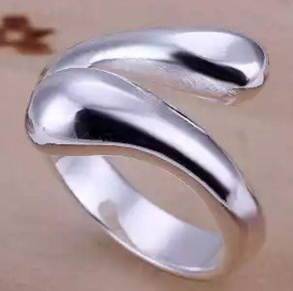 cobra de prata 925 clássico mulheres anel tamanho aberto (sp3658)