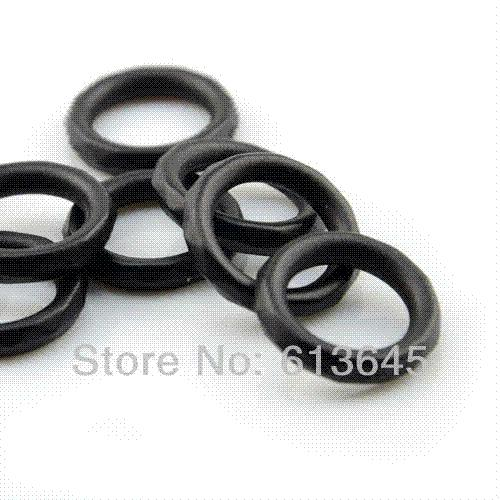 100PCS/LOT, DIY Jewellery Findings Necklace Pendants Rhobic Black Plastic CCB Rings Scarf Accessories, AC0014K, Free Shipping