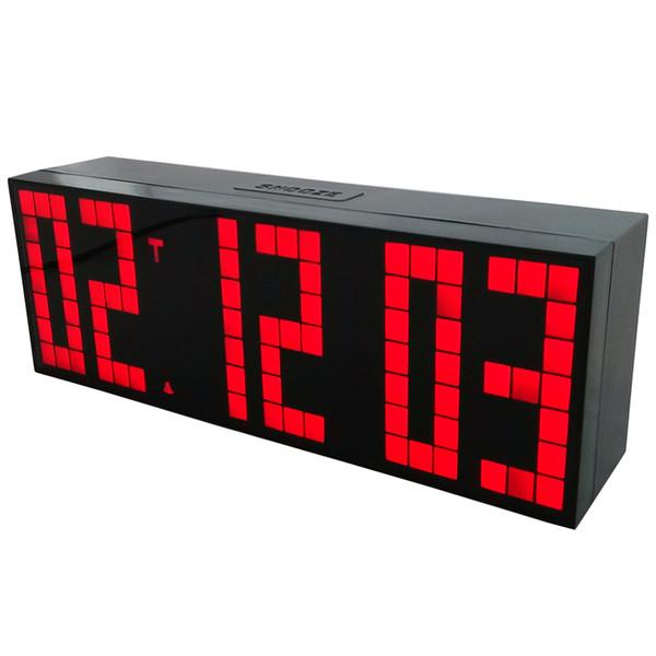 Classique Design Led Horloge Électronique Horloge Numérique Portable En Plastique Shell Snooze Réveil Big Fonts École Horloge