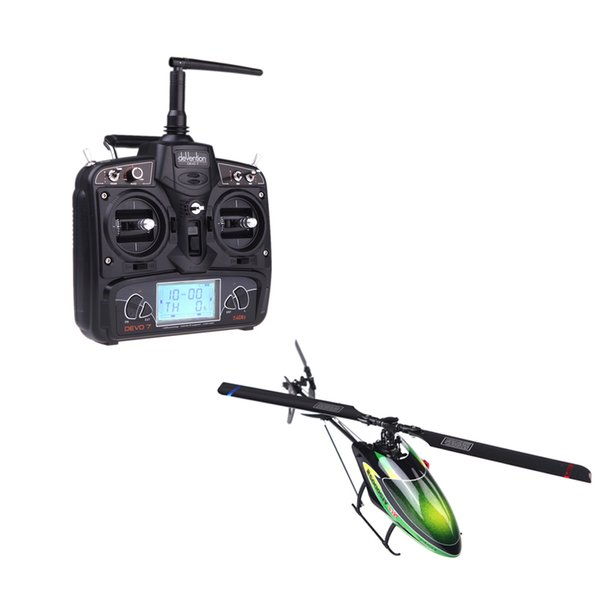 2.4G 6 Axis System 6CH 3D RC Helicopter Walkera V120D02S RTF Flybarless Helicopter w/ with DEVO 7 Model 2 order<$18no track
