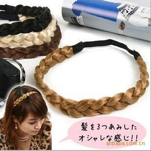 Big discount Hair Accessories Elasticity Serratula Weave Wig With Braids Hair Bands Headdress 11 colors