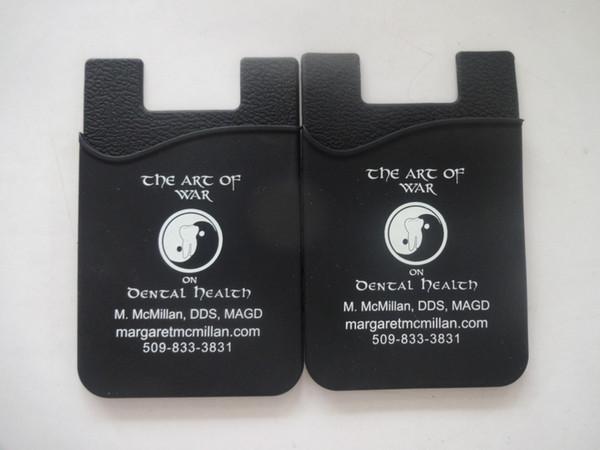 пользовательские палочки для задней части телефона OEM Силиконовый смарт-карты держатель универсальный 3M липкий телефон бумажник Силиконовый смарт-бумажник карты держатель для мобильного телефона
