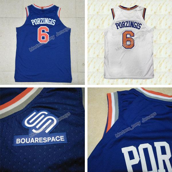 hot sale online c89e9 8ad24 2019 New Kristaps Porzingis Jersey 2017 18 Season Mens #6 Porzingis Jerseys  White Blue Cheap 2018 New Style Embroidery Sport Shirts From Martens_tony,  ...