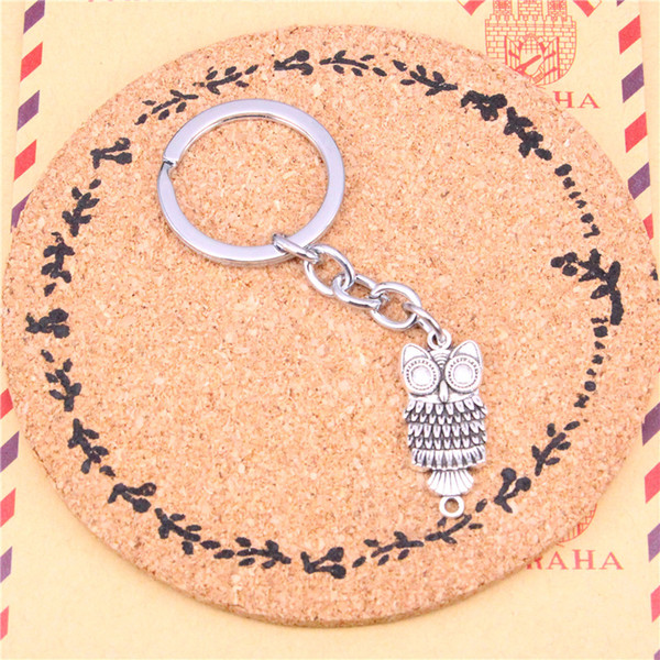 Keychain owl connector Pendants DIY Men Jewelry Car Key Chain Ring Holder Souvenir For Gift