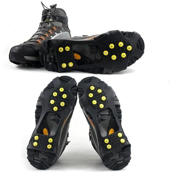 10 tacks teeth spikes Anti-slip Ice Grip Ice Rubber Magic Spike Winter Walking Sports anti-slip overshoes outdoor shoes cover