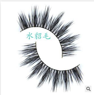 wholesale-d-6/ 1 pair/ 3d 100% handmade real false eyelash 3d strip mink lashes thick fake faux eyelashes makeup beauty