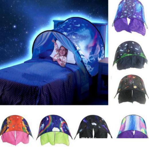 Kid Dream Tents Baby Pop Up Bed Tent Space Foldable Playhouse Night Sleep Gift