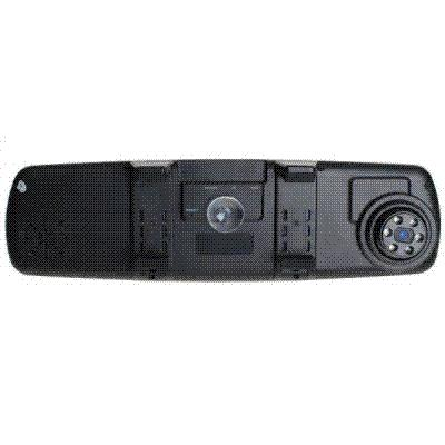 120 Degree 1080FHD H.264 Rearview Mirror Car Recorder with 2.4 inch TFT Display, IR Night Vision and Rotatable Cam