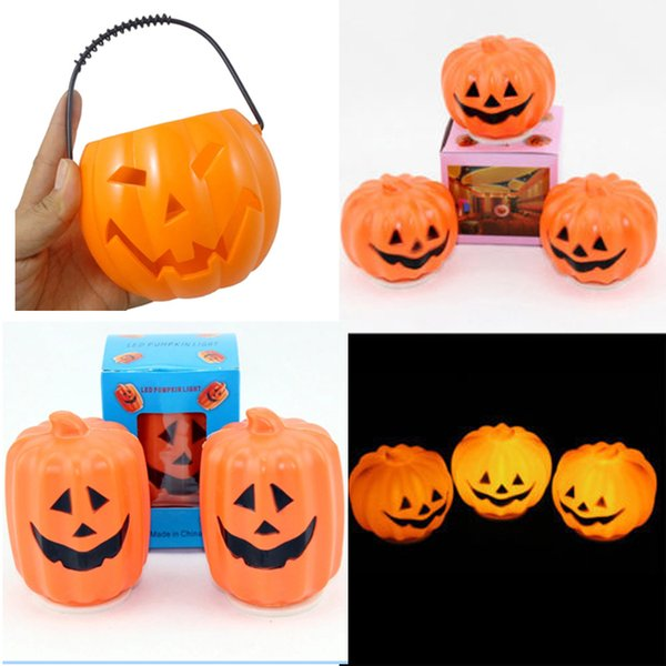 led halloween pumpkin lights lamp plastic hollow big pumpkin bucket led lights decoration ballons lamps for - Halloween Pumpkin Lights