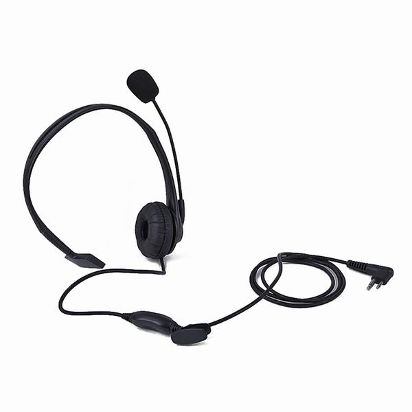 5X 2 Pin PTT MIC Earpiece Headphone Headset for Motorola GP300 PRO1150 Black New
