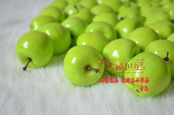 top popular Artificial Fruit Green apple Simulation apple plastic apple home wedding Decoration 2019