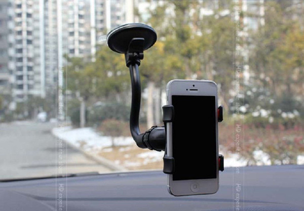 Universal 360 Degree Rotating Car Phone Mount Stand Holder For iPhone 4 4S 5 GPS Samsung Galaxy S3 S4 HTC +Free shipping