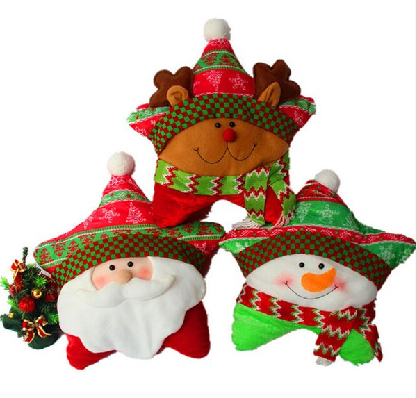 40cm 1pc Xmas decoration star cushion cute bedding pillow kids gift holiday decoration