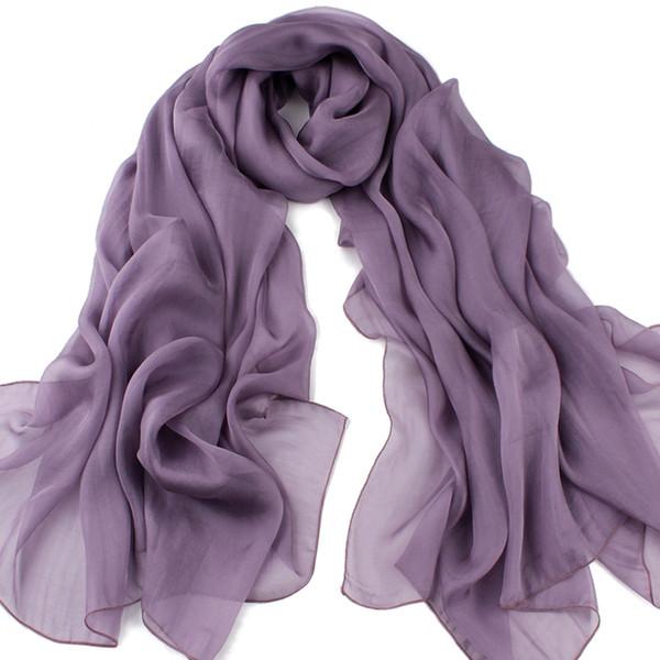 bufanda de seda bufandas de lujo mujeres color sólido de gran tamaño 180 * 110 cm China bufanda hecha de seda superior para mujeres en otoño invierno primavera buen precio barato