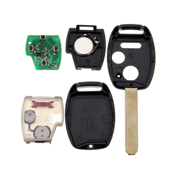 Случай ключа автомобиля дистанционный ключ с чипом ID46 433 МГц кнопки брелок для Honda/Accord FIT/Civic для Odyssey 2003-2007 3 (2+1)