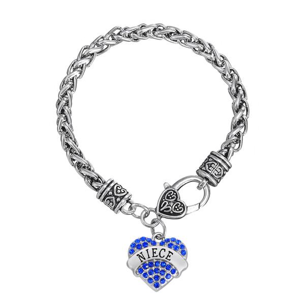 Designer Bracelet Sweet Heart Crystal Wire Thick Bracelets Word Niece Charm Bangles Twisted Chain DIY Bangle 30pcs/lot Friendship Jewelry