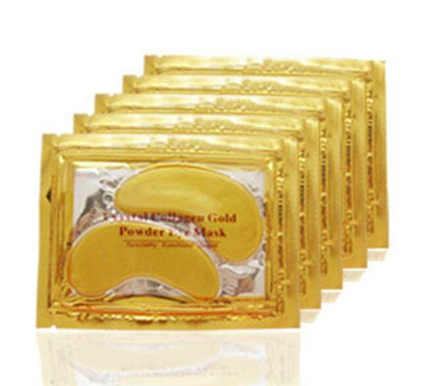 DHL Fast Shipping 2016 Anti-Wrinkle NEW Crystal Collagen Gold Powder Eye Mask Golden Mask stick to dark circles