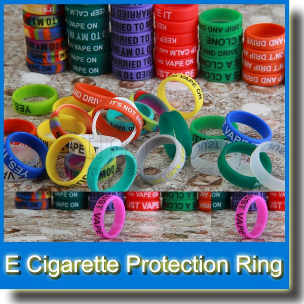 Silicone rubber band vape ring E cigarette silicon rubber vape band Suit for Full Machanical Mods Red Copper SS Black Brass and RDA Atomizer
