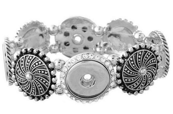 Rhinestones NOOSA Metal Snap Button Charm Bracelet Interchangeable Jewelry Ginger Snaps Jewelry Fashion DIY jewelry for women
