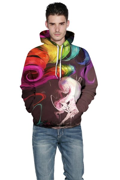 Jiuwei fox digital printing baseball clothing sports sweater hooded sweater couple sweater men and women pull the tide brand hoodie