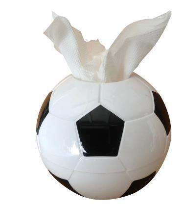 Creative world cup fans home supplies football style tissue boxes holder paper handkerchief case napkin box towel tube Christmas Gift
