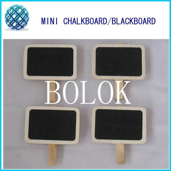 1000pcs/lt Wholesale Wedding Small Rectangle Wooden Blackboard Chalk Board Peg , Chalkboard Clips