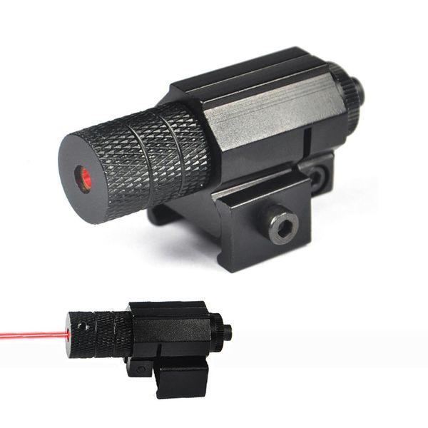 Kostenloser Versand 5mw Taktischer Roter Punkt-Laser-Anblick für die Jagd, Mini-Roter Laser-Anblick für Pistole, Windage und Elevation einstellbar.