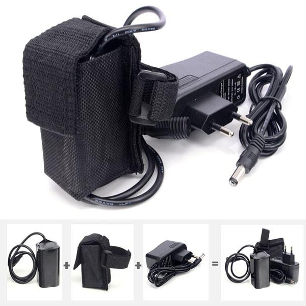 8.4V 6400mAh Rechargeable Battery Pack for For 2 in 1 CREE XML-T6 LED Bike Bicycle Lamp Light headlight & Headlamp+Charger