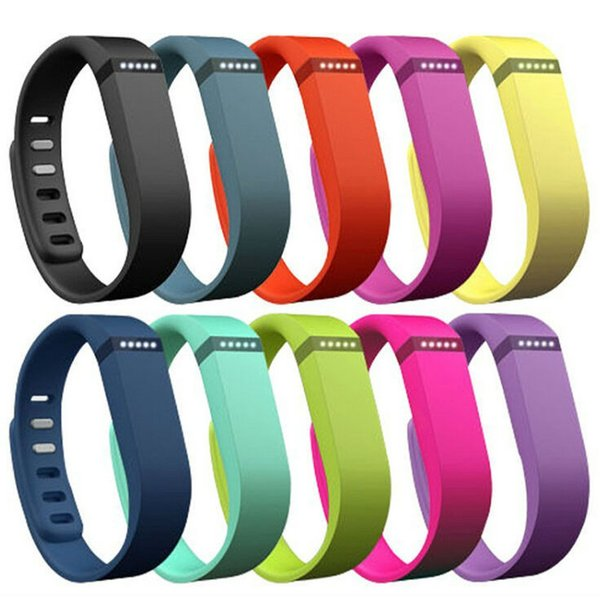 top popular Fitbit Flex strap With Clasp Replacement TPU Wrist Strap Wireless Activity Bracelet Wristband With Metal Clasp No Tracker 13 Colors US04 2019