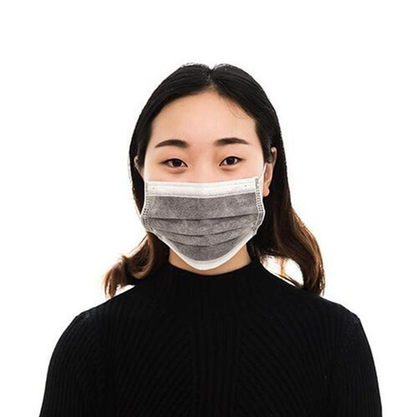 Toptan-DSstyles Bisiklet Maskesi Aktif Karbon Önleyin Sis Pusu Araba Egzoz Sigaralar PM 2.5 için Toz Filtresi Bisiklet Maskesi Unisex