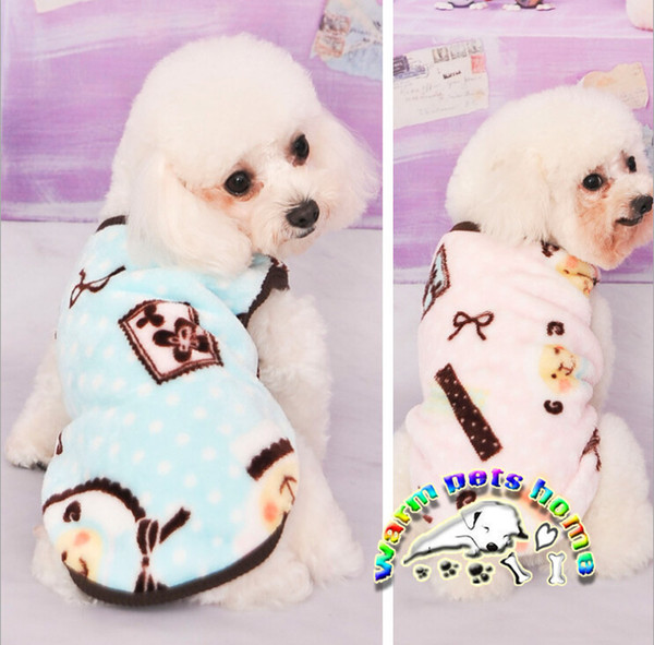 Dachshund shih tzu clothes new pink blue warm dog clothes winter clothing for chihuahua yorkies puppies cute sheep printed dog vest CA169