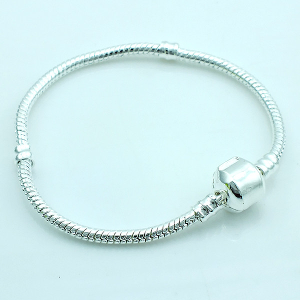 best selling Fashion Link Bracelets Europe Brand Plated Silver Infinity Snake Chain DIY Bracelets & Bangles Accessories Jewelry Free Shipping