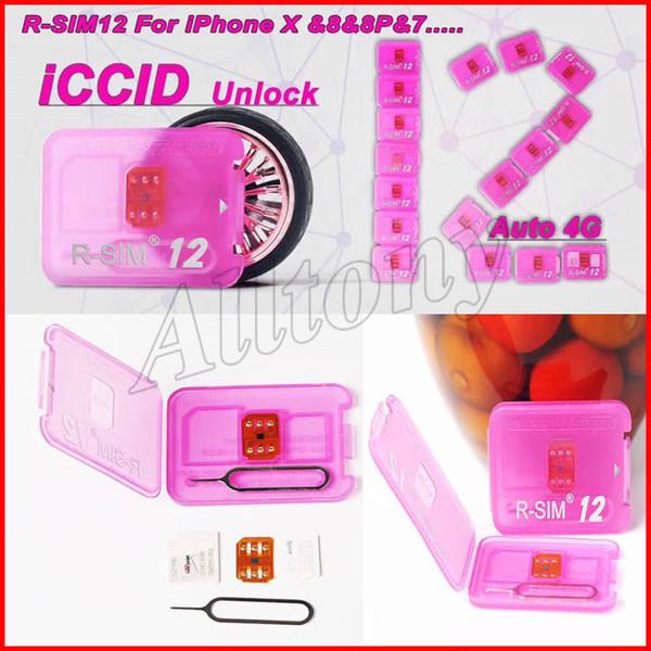 R sim 12 rsim12 rsim sim12 ios 11 ios11 ios 10.x ICCID Unlocking for iPhoneX,iphone 8,8PLUS 7,7plus 4G LTE