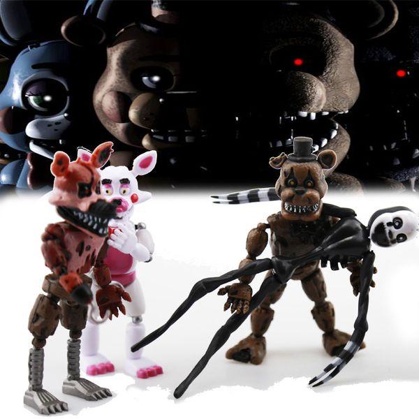 6шт / набор фигур игрушки пять ночей в Фредди фигурку игрушки Fnaf плюшевый медведь Фредди Fazbear медведь аниме фигуры Фредди игрушки