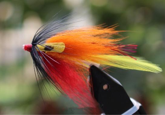 Tigofly 24 pcs/lot Orange Body Yellow Tail Tube Fly Streamer Fly Salmon Trout Steelhead Fly Fishing Flies Lures