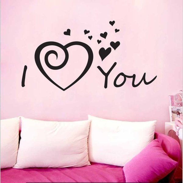 I LOVE YOU Heart baby family Quote Wall Stickers Art Room Removable Decals DIY