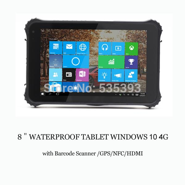 "Wholesale- IP65 Rugged industrial tablet PC Android PDA 8""Tablet 1D 2D Laser Barcode Scanner Android Reader windows 10 4G NFC Panel PC"