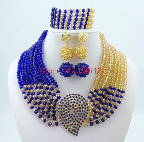 African Beads Jewelry Set 2016 Fashion Accessories Wedding 18k Gold Plated Flower Vintage Earring Bracelet Necklace Ring sets SY804-3
