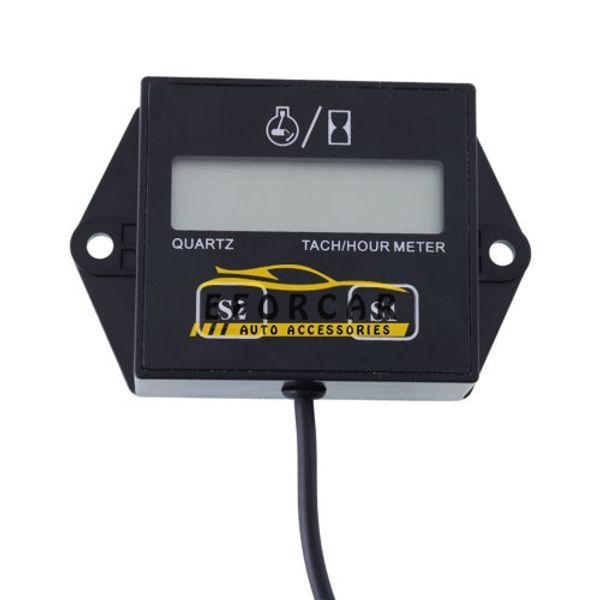 Motocicleta LCD digital tacómetro medidor de horas Indicador 12v Stroke Engine Spark para carreras de motocicletas / automóviles / bicicletas / ATV